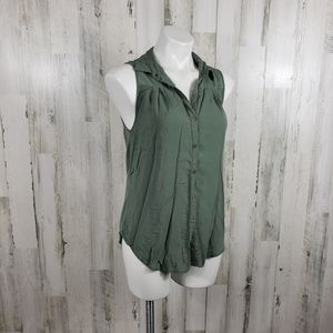 Love squared Green open back tank size large